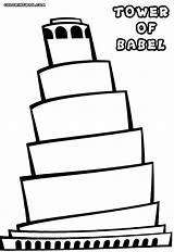 Tower Coloring Babel Colorings Building sketch template