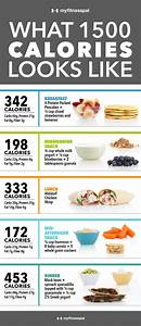 what 1 500 calories looks like infographic well