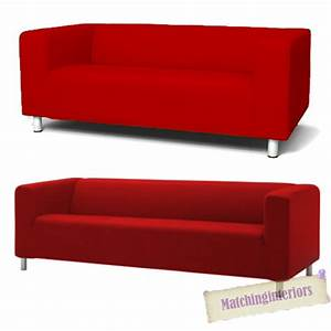 Ikea Sofa Bezug Klippan : red cover slipcover to fit ikea klippan 2 or 4 seater sofa settee replacement ebay ~ Markanthonyermac.com Haus und Dekorationen