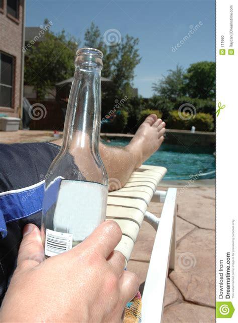 cool beer   pool stock photo image