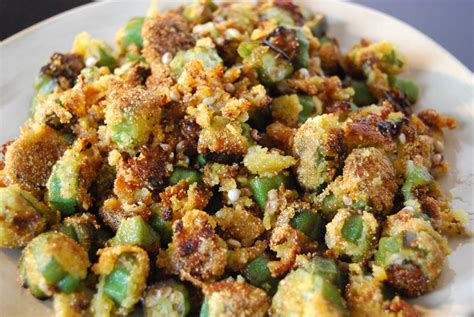 fried okra fried okra recipe dishmaps