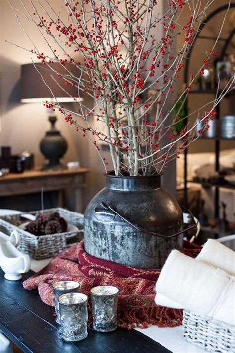 cozy red  grey christmas decor ideas digsdigs