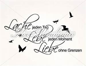 Tattoos Für Die Wand : wandtattoo spr che lache jeden tag als motivierender ~ Orissabook.com Haus und Dekorationen