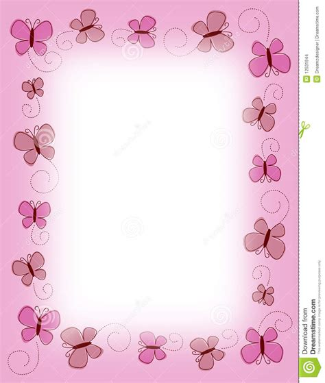 border pink butterfly butterflies stock images image