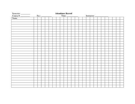 school attendance register template crafty