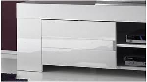 Tv 30 Cm : meuble tv design laqu blanc brillant konrad 140 cm gdegdesign ~ Teatrodelosmanantiales.com Idées de Décoration