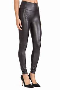 Spanx Faux Leather Leggings in Black | Lyst
