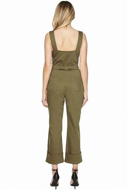 Jumpsuit Buckle Bardot Clothing Jumpsuits Army