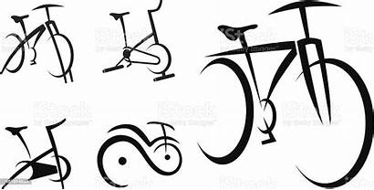 Bike Vector Cycle Exercise Illustration Bicycle Spinning