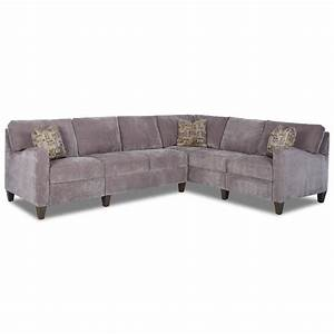 klaussner colleen hybrid reclining sectional with raf With sectional sofas johnny janosik