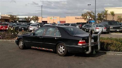 Modifikasi Mercedes Class by Sangar Sedan Mercedes Ini Pakai Knalpot Ala Cerobong
