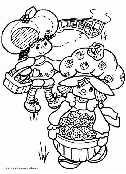 Coloring Strawberry Shortcake Pages Cartoon Printable 80s