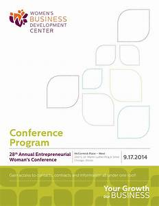 28th Annual Entrepreneurial Woman's Conference Program ...