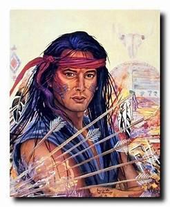 Native American Indian Brave Warrior Jonnie Kostoff Art ...