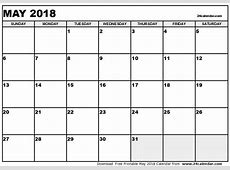 May 2018 Calendar Canada 2018 calendar with holidays
