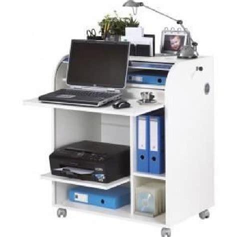 meuble de bureau algerie meuble informatique à roulettes 79 2 cm blanc rideau
