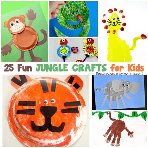 jungle crafts for to go along with the jungle book 988 | Kids Jungle Crafts