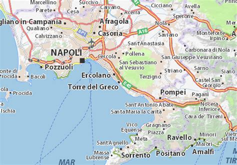 torre del greco map detailed maps   city  torre