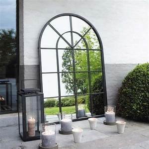 Miroir Metal Noir : miroir en m tal noir h 135 cm orangerie maisons du monde ~ Teatrodelosmanantiales.com Idées de Décoration