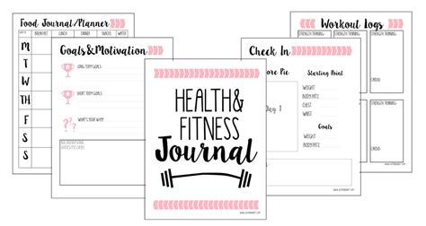 food and exercise journal template gift of planning free fitness journal printable just being britt