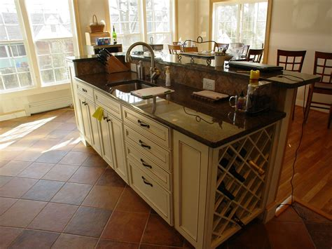 kitchen island with kitchen island with sink and raised bar k c r