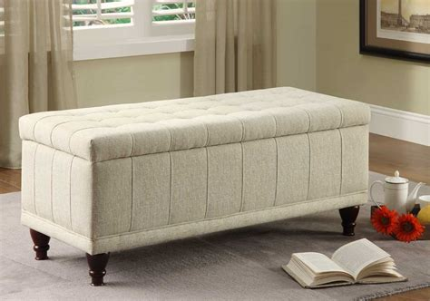 fabric storage ottoman bench homelegance afton lift top storage bench ottoman cream