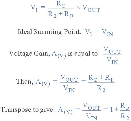 Non Inverting Operational Amplifier Configuration