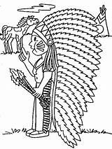 Coloring Pages Indian Coloringpages1001 Indians sketch template