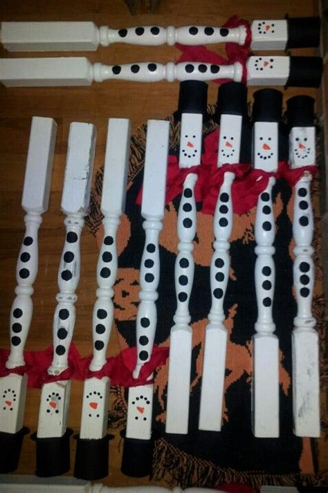 snowmen spindles spindle crafts christmas crafts