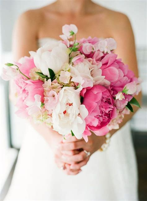 pink peony bouquet ideas  pinterest wedding