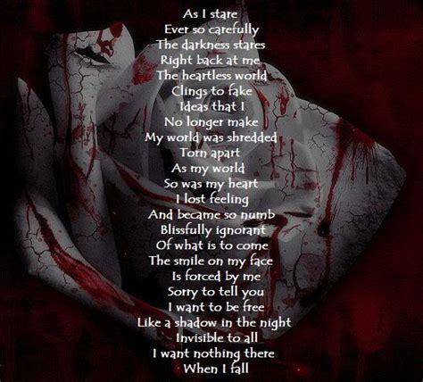 dark gothic poems  quotes quotesgram