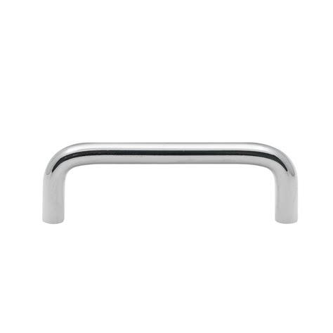 Chrome Cupboard Handles by Prestige 96mm Satin Chrome D Cupboard Handle Bunnings
