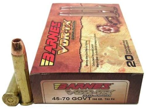 Barnes 45-70 Government Ammunition 300 Grain Tsx-fn Vor-tx