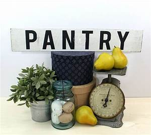 Free, Shipping, Rustic, Pantry, Sign, Wood, Farmhouse, Style