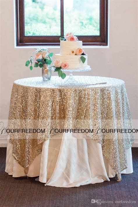 ideas  sequin tablecloth  pinterest wedding