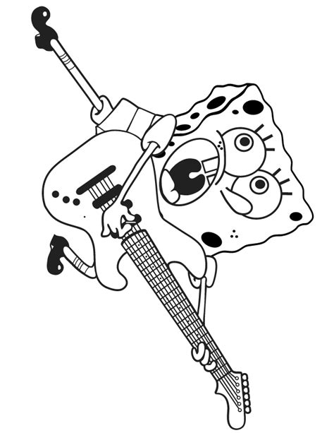 guitar coloring pages coloring home