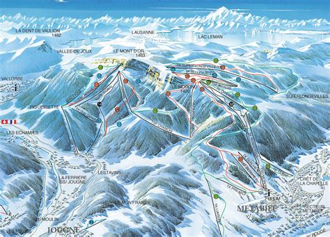 mont d or ski domaine skiable metabief station et pistes de ski metabief ski planet