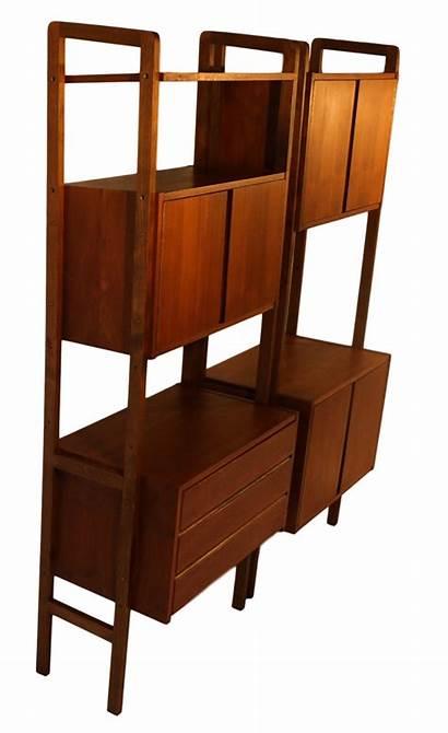 Mid Century Modern Hutch Divider Storage Bookcase