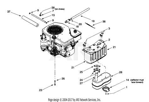 Sear 26 Kohler Engine Electrical Diagram by Troy Bilt 13bx609g063 2000 Parts Diagram For Muffler