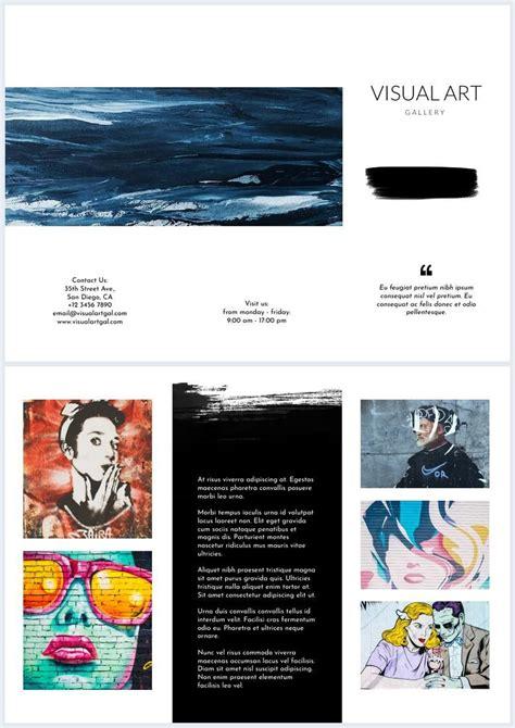 art gallery brochure flyer template design flipsnack