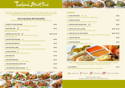 menu cuisine baan thitiya cuisine hertford official website