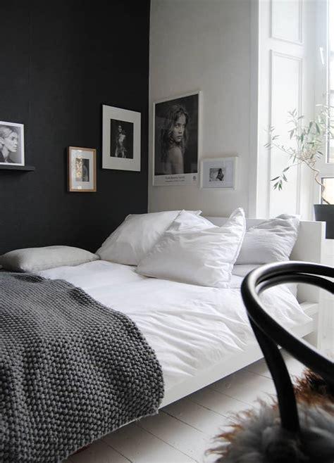 chic  stylish bedrooms dressed  black  white