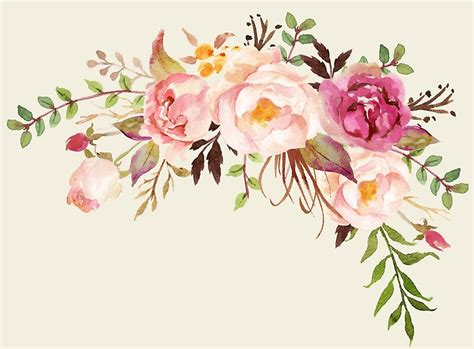 """Romantic Watercolor Flower Bouquet"" by junkydotcom"