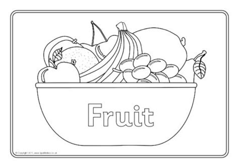fruit colouring sheets sb sparklebox