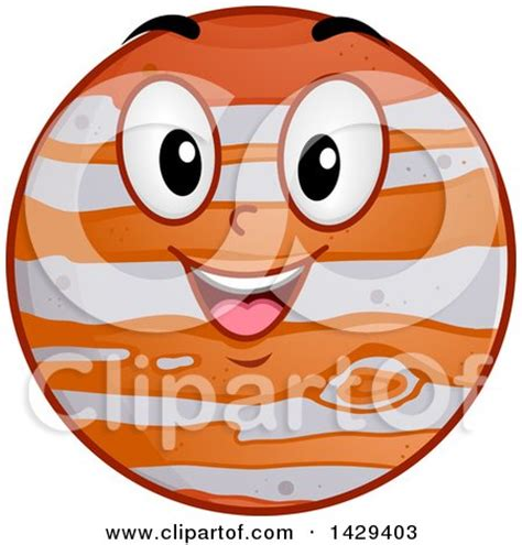 jupiter clipart clipart planet jupiter waving royalty free vector