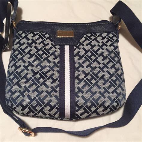 tommy hilfiger womens crossbody bag dark blue  net shop