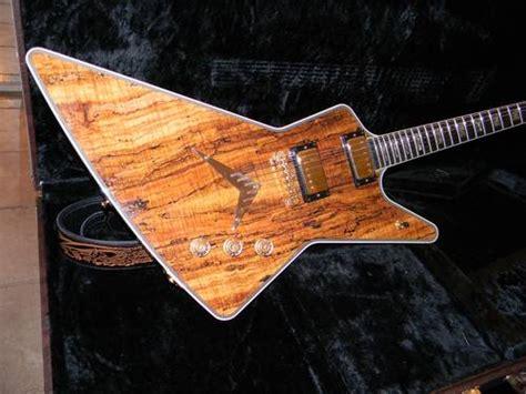 Dean Custom Shop Z Usa Guitar Rare Spalted Maple Top Super