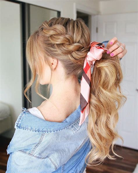 creative ponytail hairstyles  long hair summer