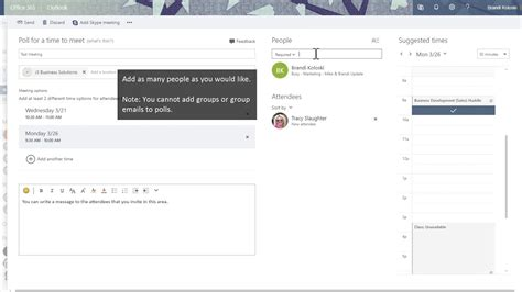 Office 365 Outlook How To Use by How To Use Microsoft Office 365 Outlook Calendar Polls