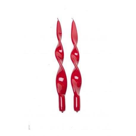 Candele Lunghe by Clicson Candele Lunghe A Spirale Rosso Metallizzato 31